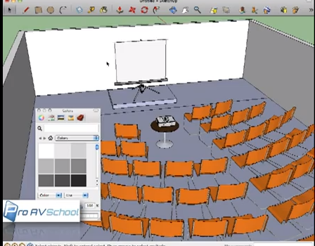 Audio Visual Rental Layout With Sketchup Proavschool Com